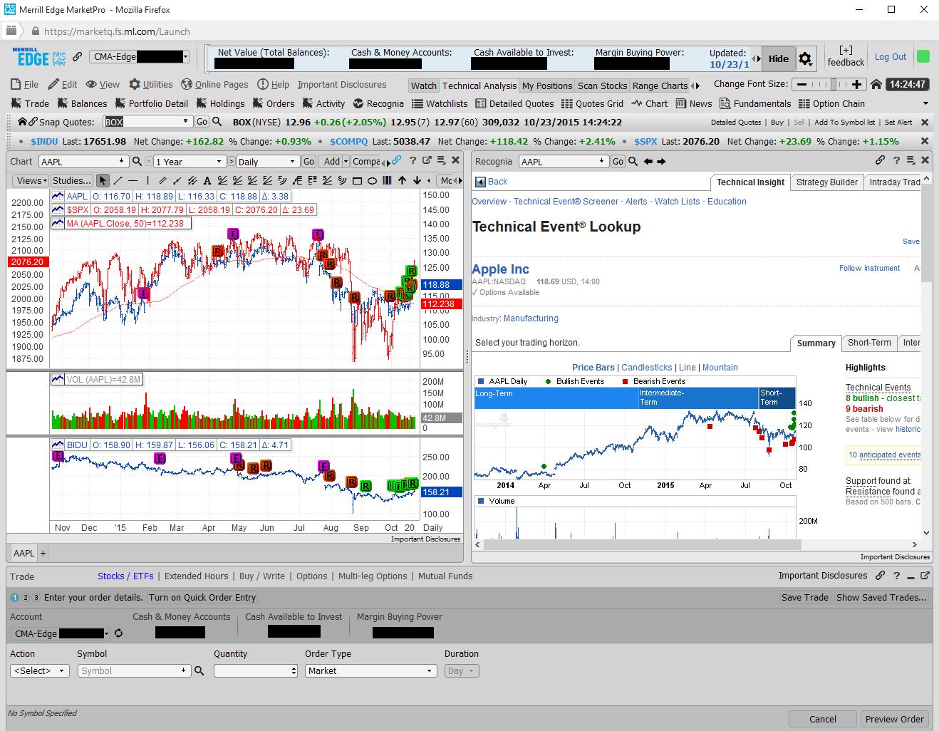 Merrill Edge Web Platform